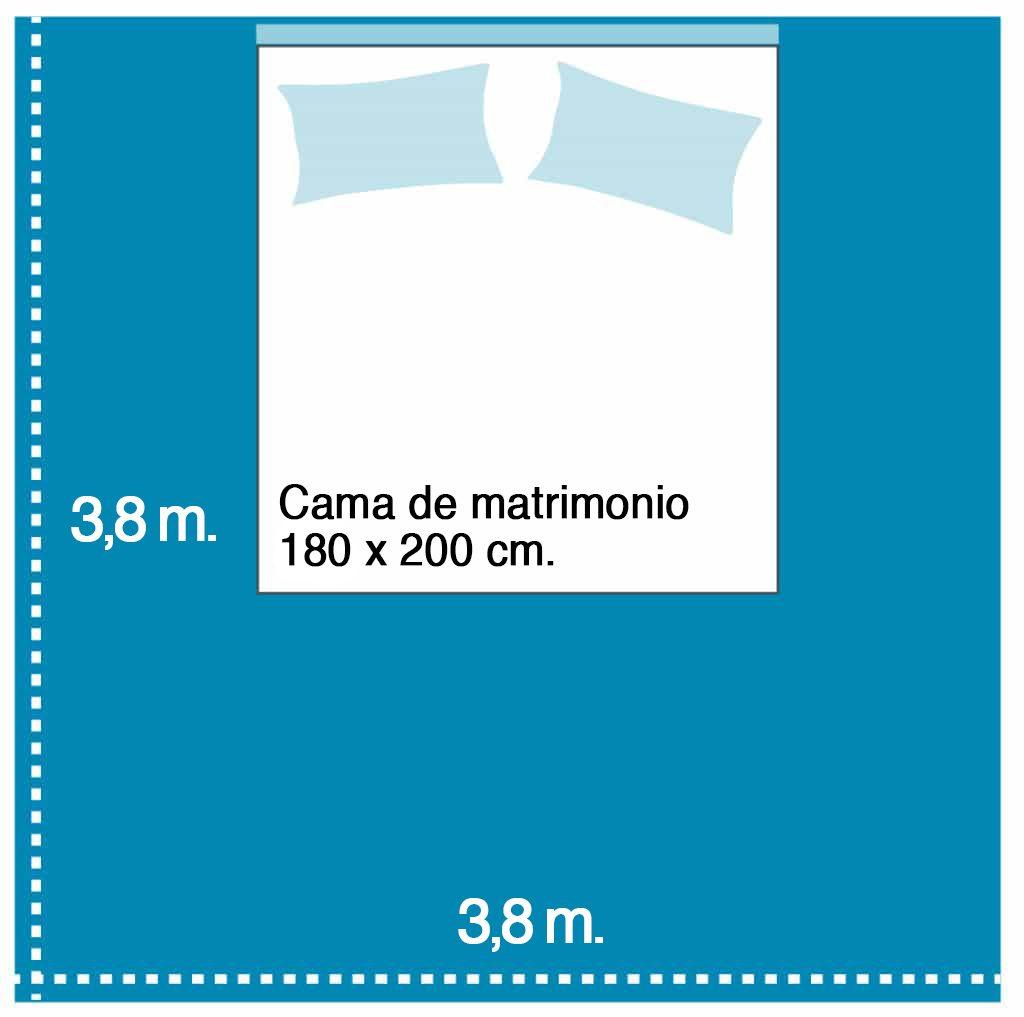 Colchón de 180 para habitaciónn de 14 metros cuadrados