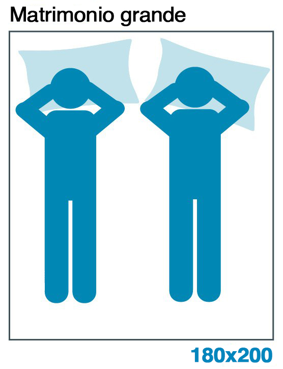 Medidas cama de 180x200 cm.