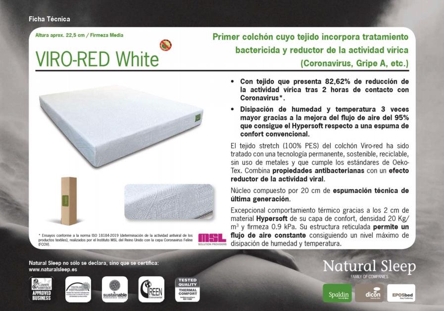 El colchón VIRO-RED White