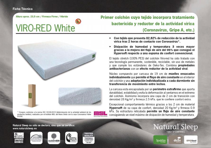 El colchón VIRO-RED White Hybrid