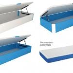 colchón azul