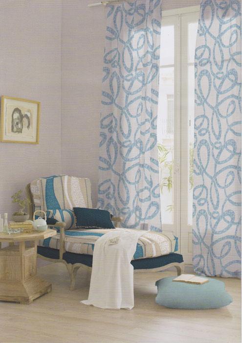 Ambientes con luz for Cortinas estampadas salon